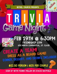 Bethel Church presents Trivia Game Night