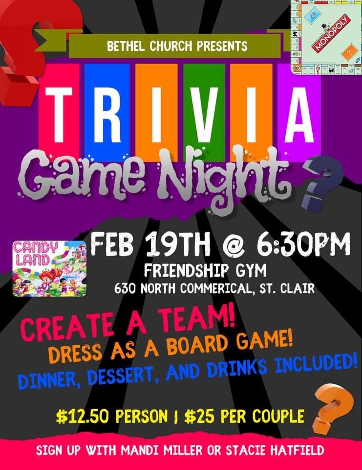 Bethel Church presents Trivia Game Night