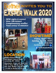 Easter Walk Flier 2020