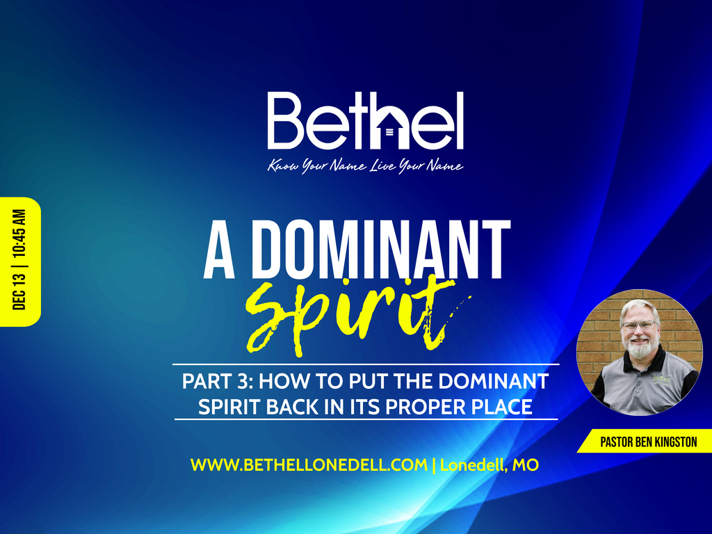 Dominant Spirit Series with part 3
