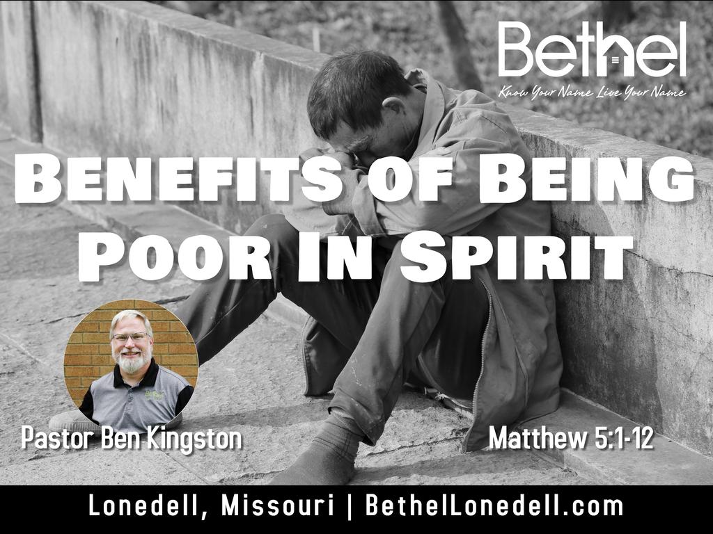 Benefits of being poor in spirit